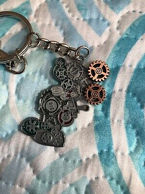 Disney Parks Mickey Mouse  Steampunk Metal Keychain New With Tags