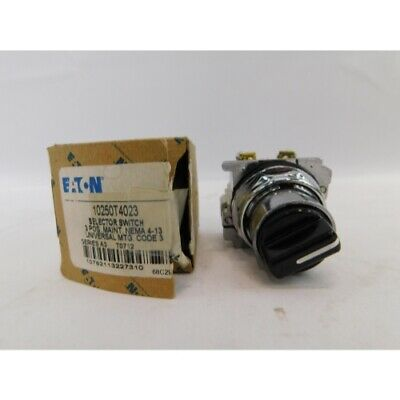 Eaton 10250T4023 Selector Switch 3Pos, 60 Degree