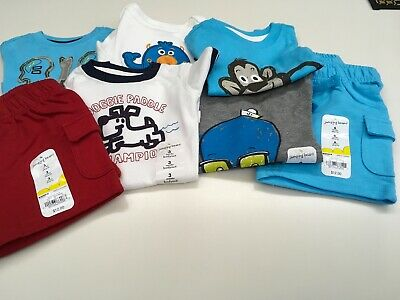 Jumping Beans Boys Mixed Lot Tops And Bottoms Nwt Sizes 3, 6, 9 Mths.
