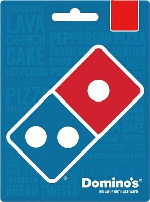 Domino's Physical Gift Card - FREE 1st Class Mail Delivery - Sealed All values