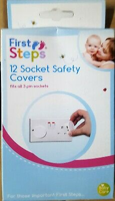 12 Plug Socket Cover Baby Proof Child Safety Protector Guard Mains Electrical