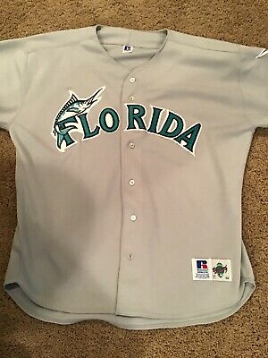 a2682a8c2 Authentic Russell Athletic Florida Marlins Authentic MLB Baseball Jersey Sz  52