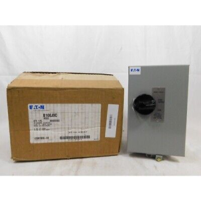 Eaton B100J0C Starter Enclosure, Manual Starter, 3Ph, Size 0