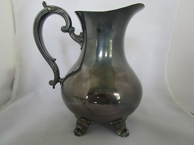 A Gorham Silver Original Footed Water Pitcher  F/S
