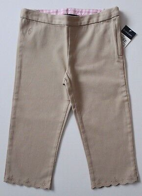 Ralph Lauren Girls Capri Beige Embroidered Size 6  NWT