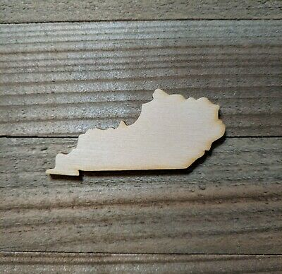 STATE OF KENTUCKY unfinished wood cutout, Laser cut wood