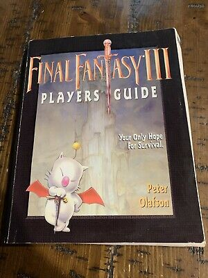 Final Fantasy III Super Nintendo SNES Strategy Guide Player's Hint Book