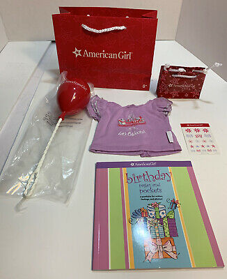 American Girl Doll Party Birthday Goody Bag & Shirt Set For 18-inch Dolls