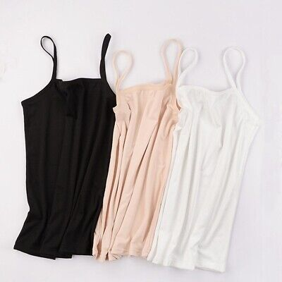 Women's Plain Sleeveless Ladies Stretch Strappy Cami Camisole Vest Tank Top NEW
