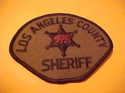Los Angeles County California Police Patch Shoulder Size Unused  Brown Bear