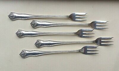 SET OF 5  LEXINGTON  Knowles  sterling silver    COCKTAIL FORKS- NO MONO