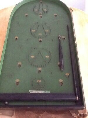 Corinthian 21S Pin Ball Board Game, Original Box. Very Old! Postage Available.