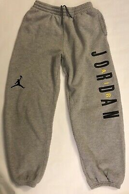 6283fbba21b Nike Air Jordan Boys Sweatpants Joggers Gray Large Ages 12 And 13 Jumpman  Logo