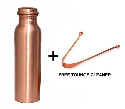 Pure Copper Jug 800 ML Ayurveda Water Bottle Pitcher Health Benefit Free Gift