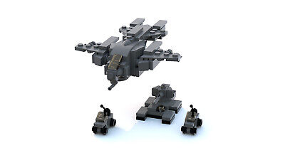 Lego Halo Pelican Dropship Warthog Scorpion Tank Mini Model Instructions Only