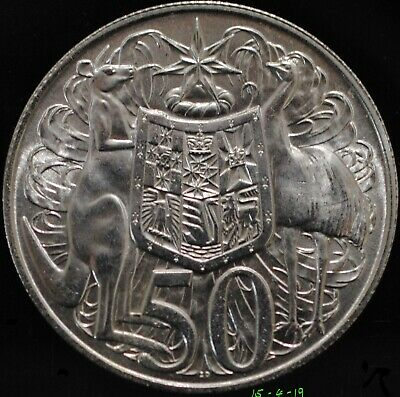 Iconic Australian 1966 Round Fifty 50 Cent Silver Bullion Coin, 80% Silver. #3
