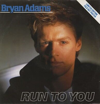 "Bryan Adams - Run to You - UK 12"" Limited Fold Out Picture Sleeve!!"