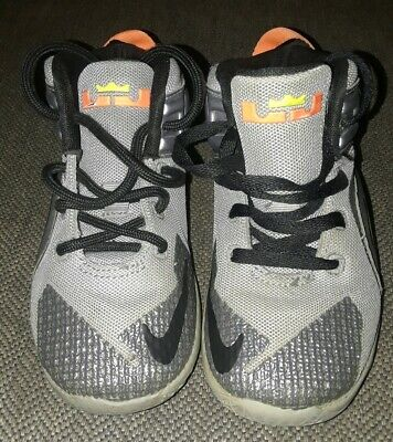 b1deff9d872 NIKE TODDLER LEBRON XII 12 (TD)     SIZE 10c     (child) SILVER ...