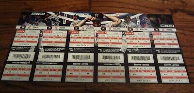 2019 Astros Full Un Used Season Ticket YOU PICK Game Altuve Verlander Bregman