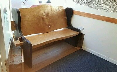 Church pew. Pew.  Bench. Solid wooden chair.