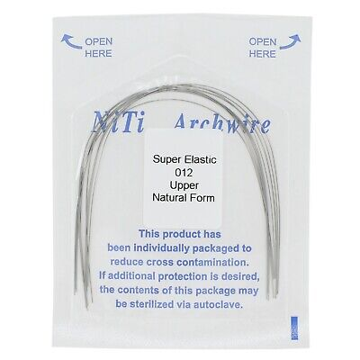 Dental Orthodontic Super Elastics Niti Round Arch Wires Natural Form Upper Lower