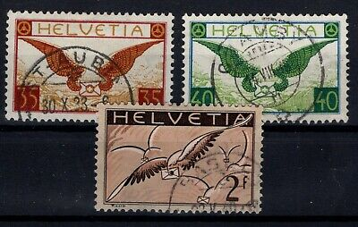 P115023/ SWITZERLAND AIRMAIL Y&T # 13a / 15a NORMAL PAPER USED 270 E