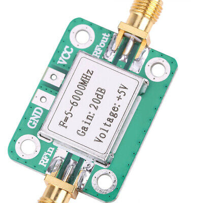 5M~6GHz Gain 20dB RF Broadband Signal Amplifier Power Amplifier VFH UHF SHF