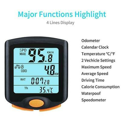 Multifunction Wireless Electric Cycle Computers Cycling Time Real-Time Speed