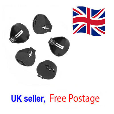 5x CR2025 CR2032 3V Button Coin Cell Battery Socket Holders Box Cases ROHS