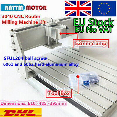 【EU ship】3040 Frame Milling Drilling Engraving Machine CNC Router Kit&52mm Clamp