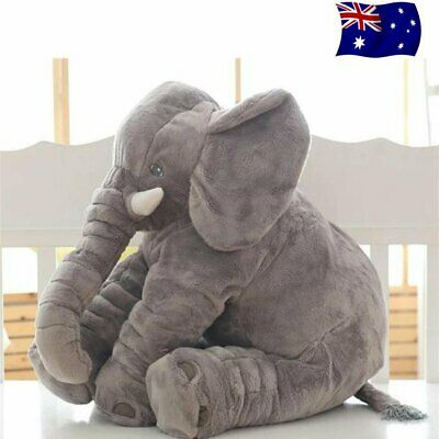 Soft Plush Stuff Toy Animal Cushion Long Nose Elephant Doll Pillow Baby Kid Gift