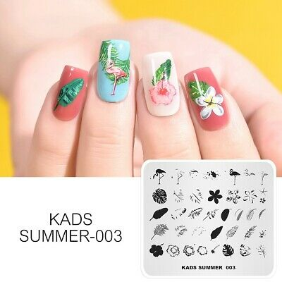 KADS Nail Stamping Image Plate Nail Art Template Stencil Tool Flower Fashion