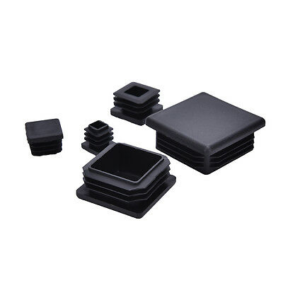 10X Plastic Black Blanking Caps Square Inserts  For Tube Pipe Box Section 0D