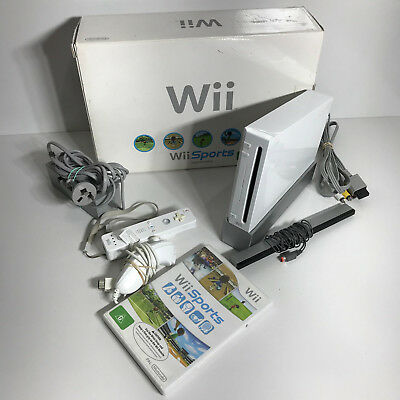 Original Nintendo Wii - White Sports Console Bundle - Boxed - Complete - Works