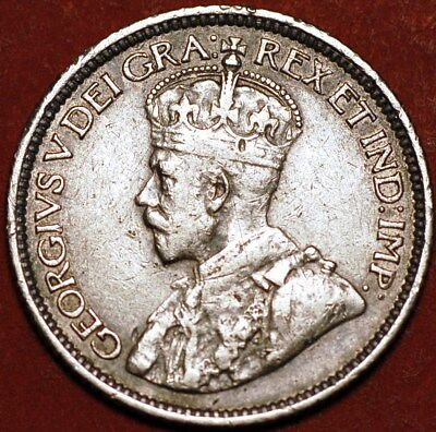 10 Cents 1915 George V silver Canada KM#23