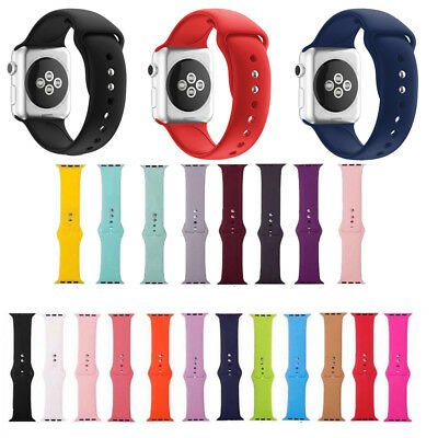 Fitness Silicone Watch Band Strap For Apple Watch Series 4/3/2/1 40mm 38mm 42mm