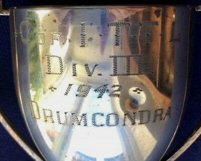 vintage 1942 Drumcondra Dublin silver plate trophy, loving cup, trophies