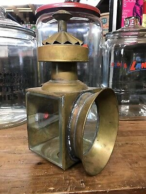 EARLY VINTAGE BRASS PORCH / STREET NON ELECTRIC LIGHT Sconce Candle