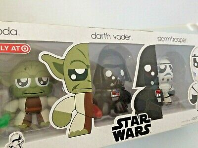Star Wars Muggs figures *  Darth Vader * Storm Trooper * Yoda Target NEW