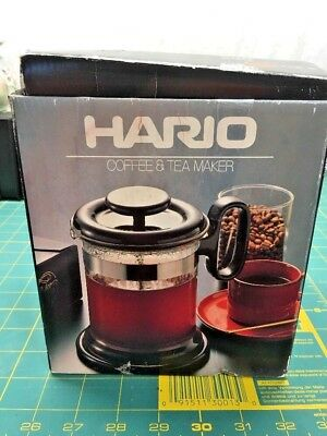 Hario Tea and Coffee Maker THF-5 Vintage 8 Cup Press Made In Japan