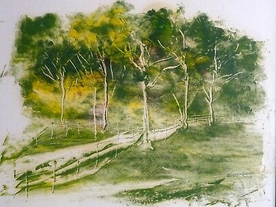 Vintage Original Plein Air Landscape Painting by artist Lawrence Forbes-Wolfe