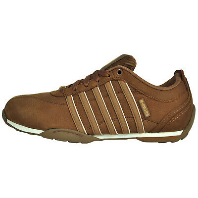 K Swiss Arvee 1.5 Mens Classic Casual Retro Leather Athletic Trainers Brown