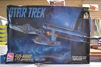 AMT 8790 Star Trek Cut-Away USS Enterprise NCC-1701 Model Kit - NEW