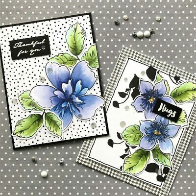 Stamps with Dies Metal Flower Leaves for Card Making Letter Clear Stamps