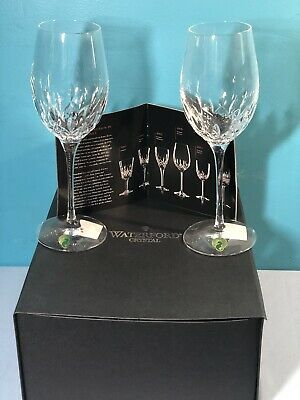 Waterford LISMORE ESSENCE White Wine SET/2 Crystal Glasses 143782 New In Box