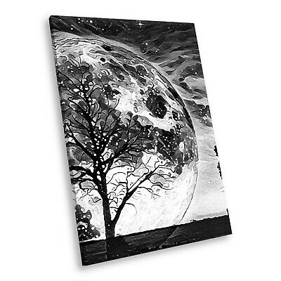 A804 Black White Animal Portrait Canvas Picture Print Large Wall Art Trippy Wolf