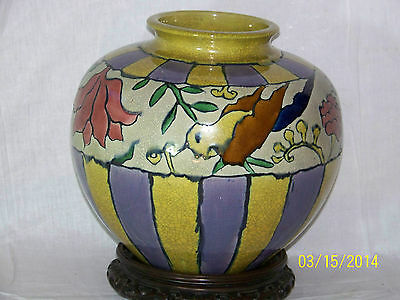 """Monumental"" Awaji Pottery Japanese Meiji Period ""Brilliant"" Vase-1 of a Kind!"