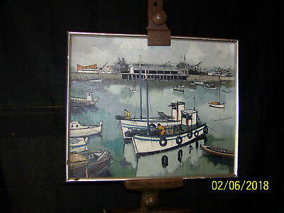 Pauline Claude Listed Artist Original Seascape Oil On Canvas Gallery Painting