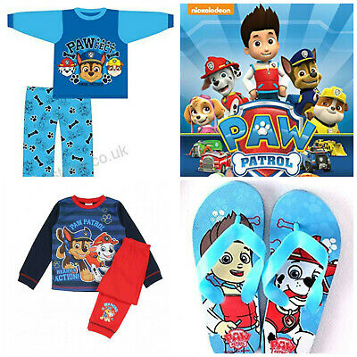 Kids Paw Patrol Boys Girls Clothes Pjs Pyjamas Sleepwear  Flip Flops Cartoon