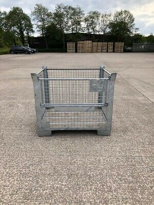 10 Heavy Duty Galvanised Metal Stillages with Half Drop Front